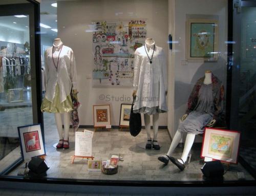 店舗ショーウィンドーでの展示(2011年)