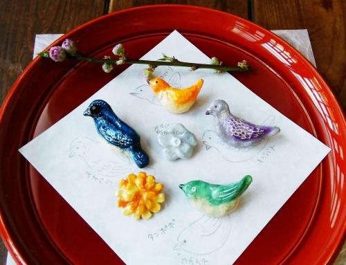 ワークショップします!因州和紙で鳥と花のブローチを作ろう!
