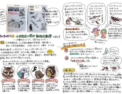 書籍「小林先生に学ぶ 動物行動学」のイラストを担当しました。